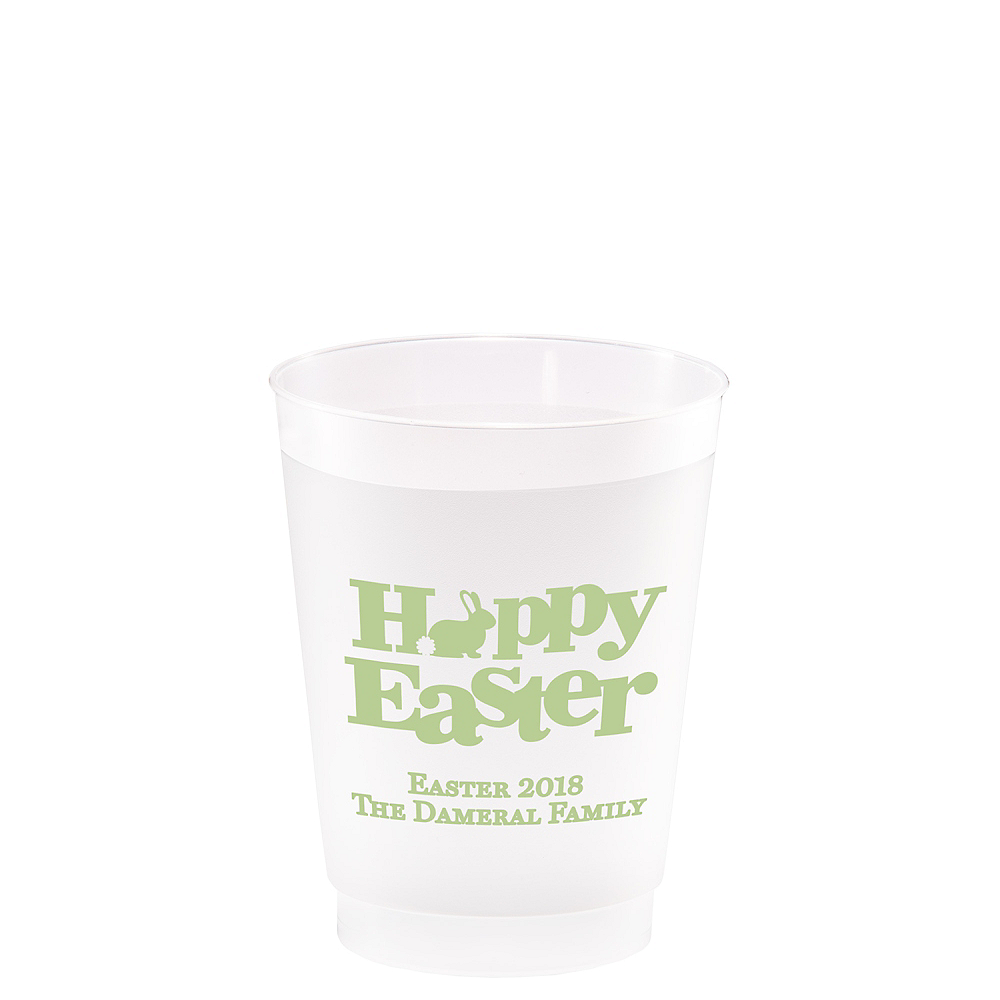 Personalized Easter Frosted Plastic Shatterproof Cups 10oz Image #1