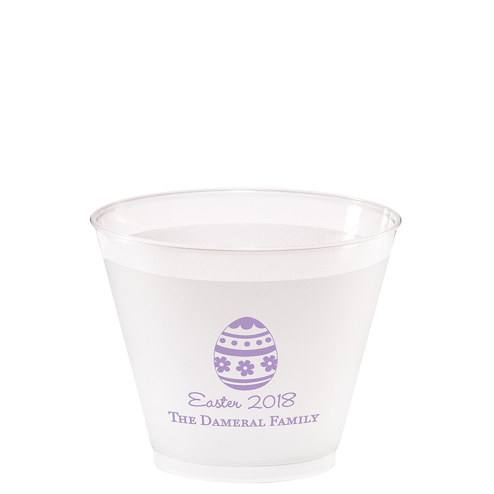 Personalized Easter Frosted Plastic Shatterproof Cups 9oz Image #1