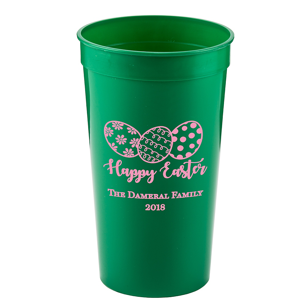 Personalized Easter Plastic Stadium Cups 32oz Image #1