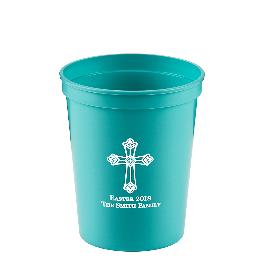 Personalized Easter Plastic Stadium Cups 16oz Image #1