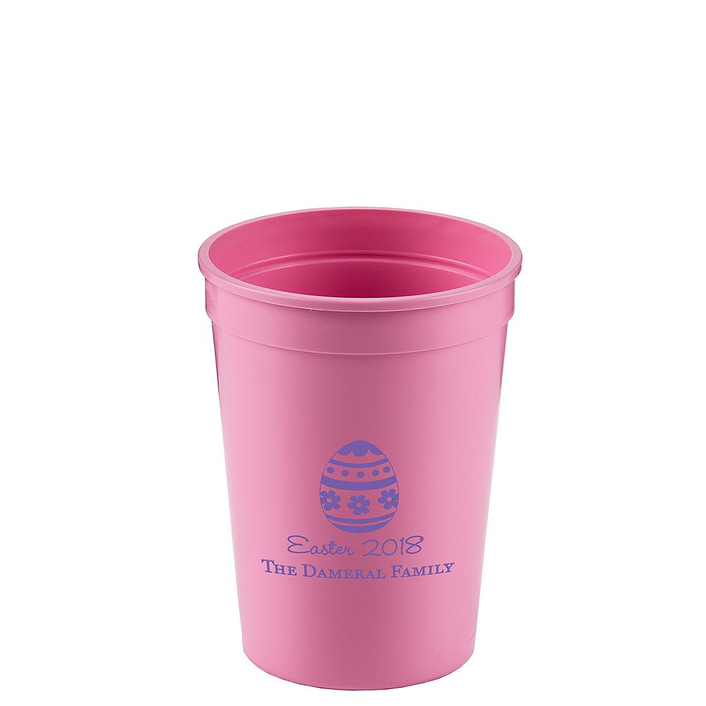 Personalized Easter Plastic Stadium Cups 12oz Image #1