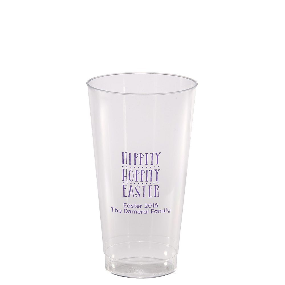 Personalized Easter Hard Plastic Cups 14oz Image #1