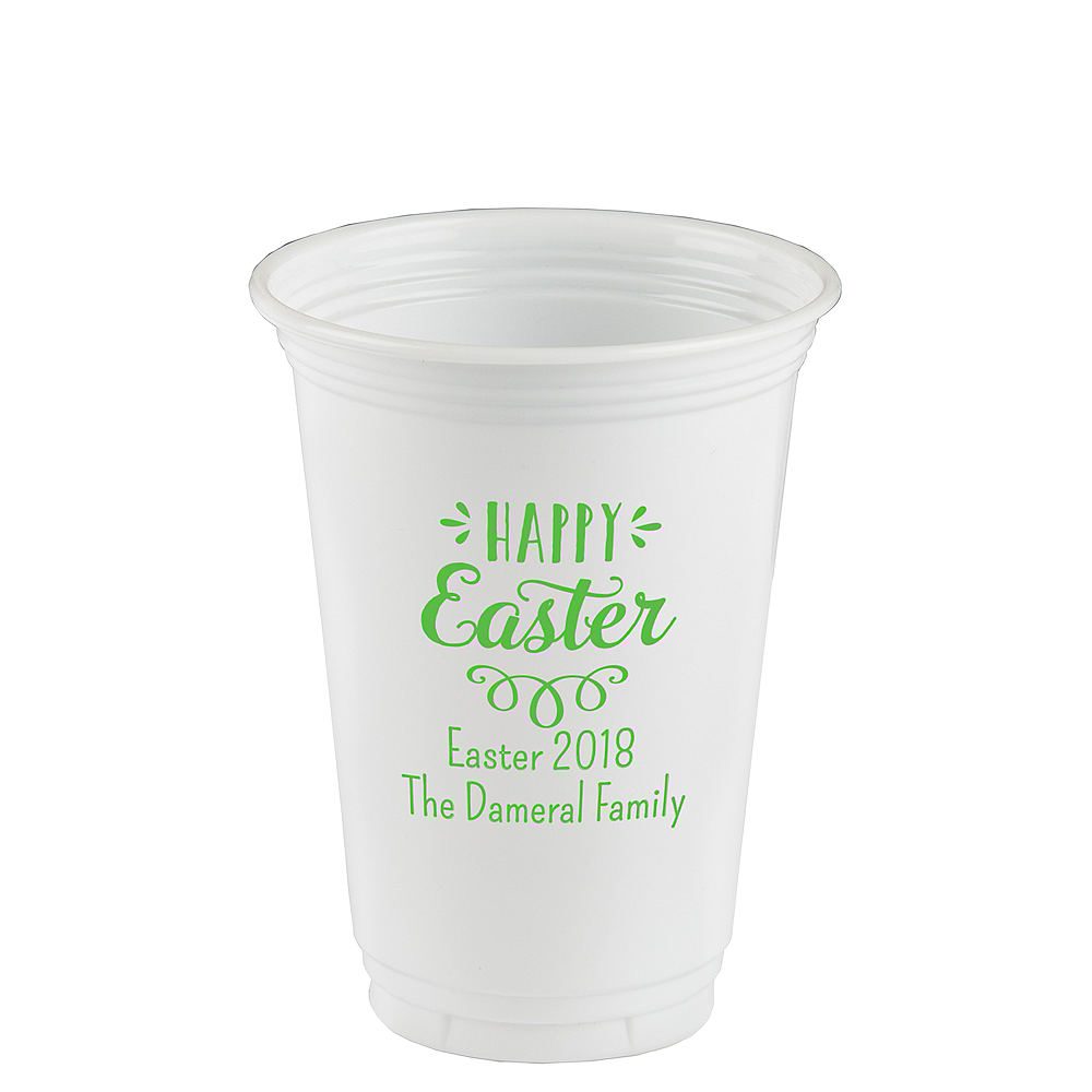 Personalized Easter Plastic Party Cups 16oz Image #1