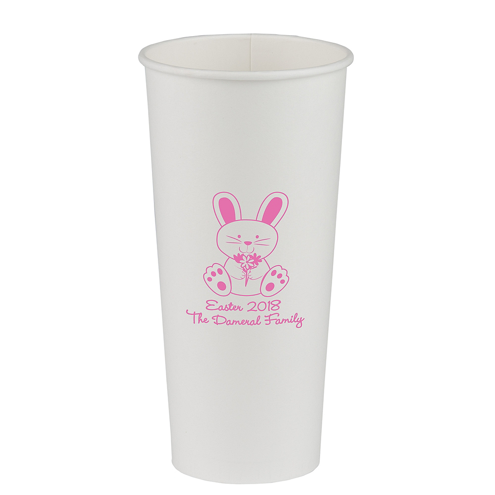 Personalized Easter Paper Cups 24oz Image #1