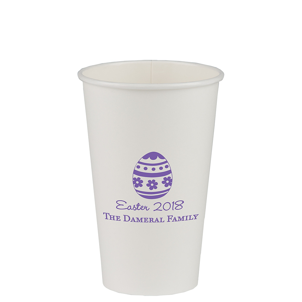 Nav Item for Personalized Easter Paper Cups 12oz Image #1