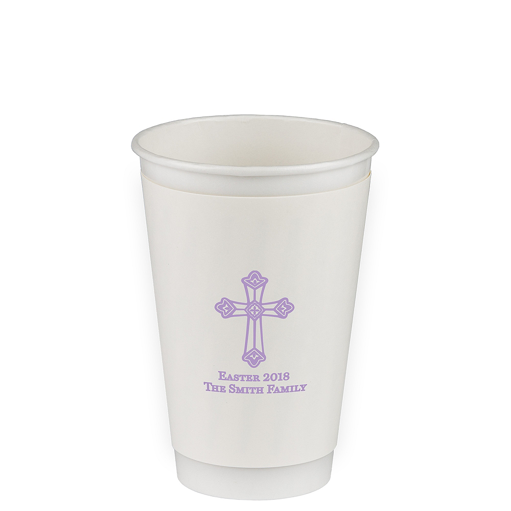 Personalized Easter Insulated Paper Cups 16oz Image #1