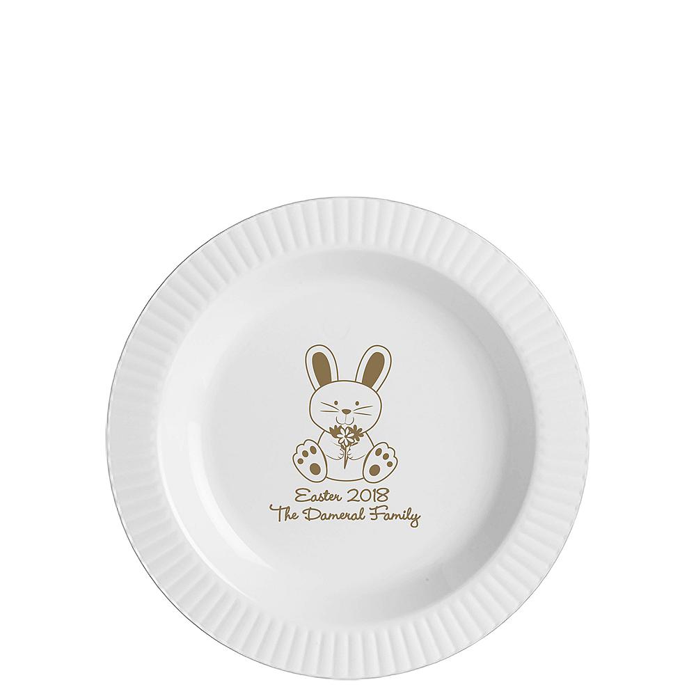Nav Item for Personalized Easter Premium Plastic Dessert Plates Image #1