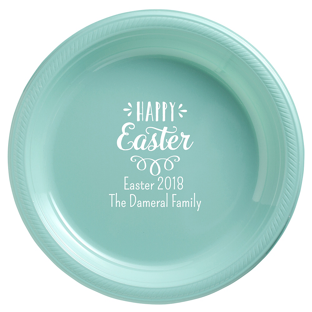 Personalized Easter Plastic Dinner Plates Image #1