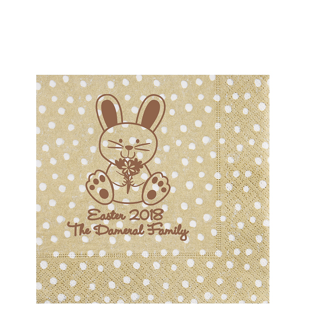 Nav Item for Personalized Easter Small Dots Lunch Napkins Image #1