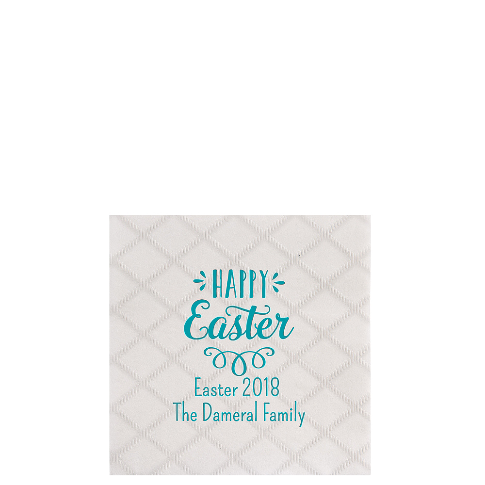 Personalized Easter Diamonds Beverage Napkins Image #1