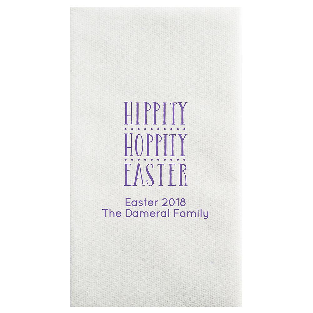 Personalized Easter Luxury Deville Side-Fold Dinner Napkins Image #1