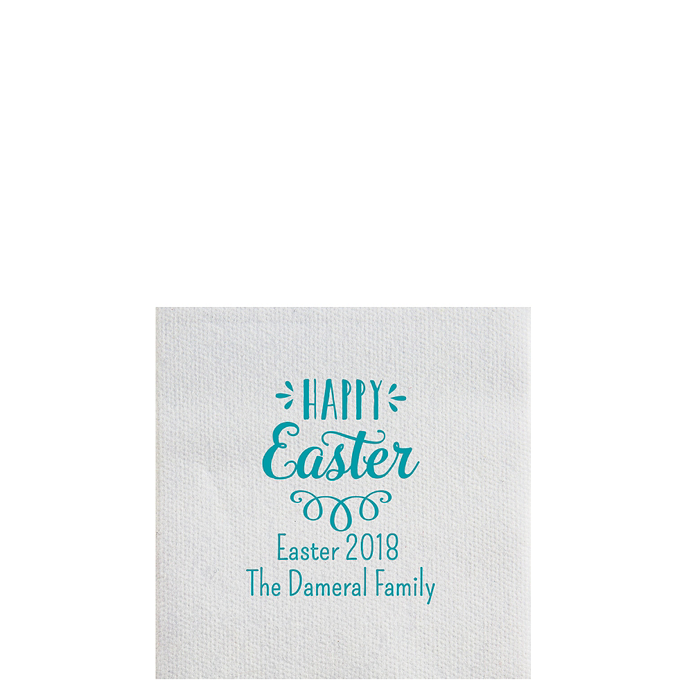 Personalized Easter Luxury Deville Beverage Napkins Image #1