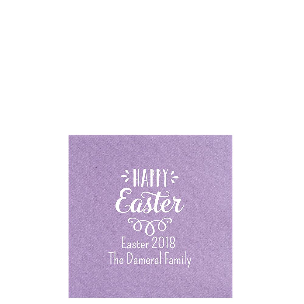 Personalized Easter Premium Beverage Napkins Image #1