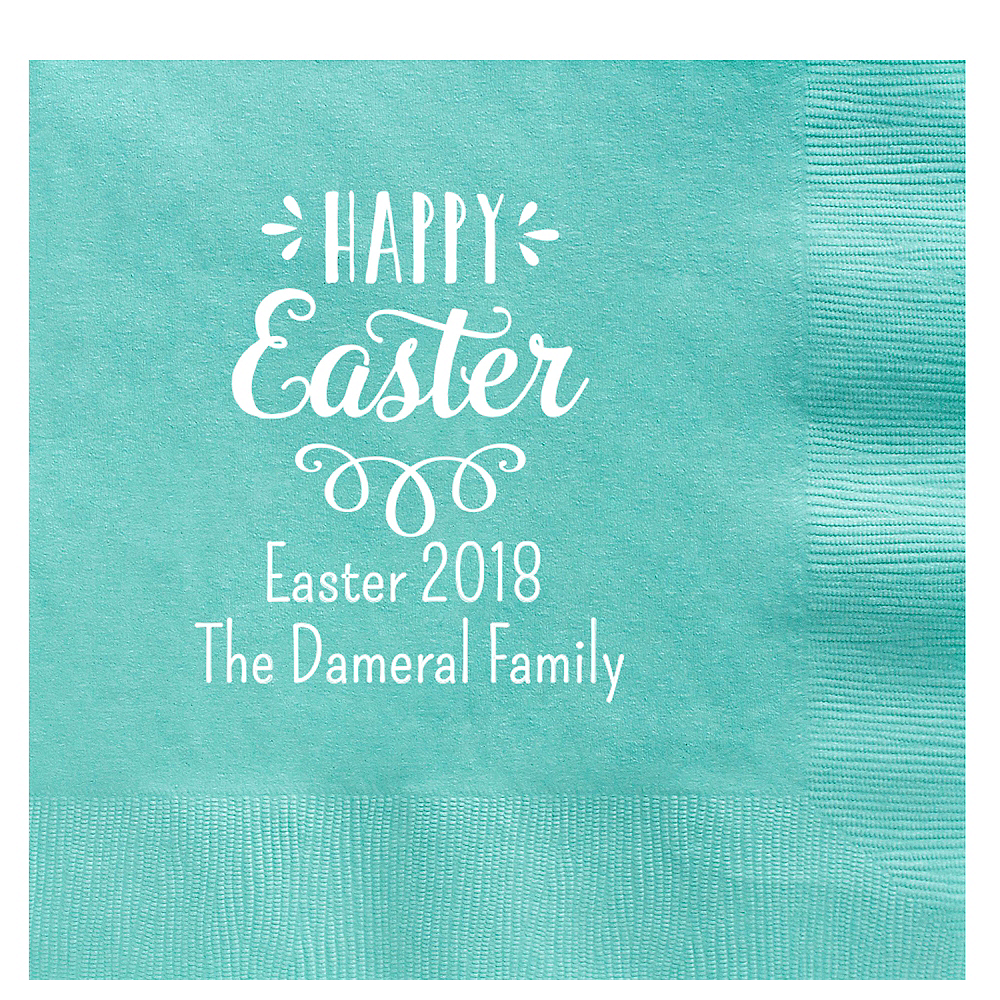 Personalized Easter Dinner Napkins Image #1