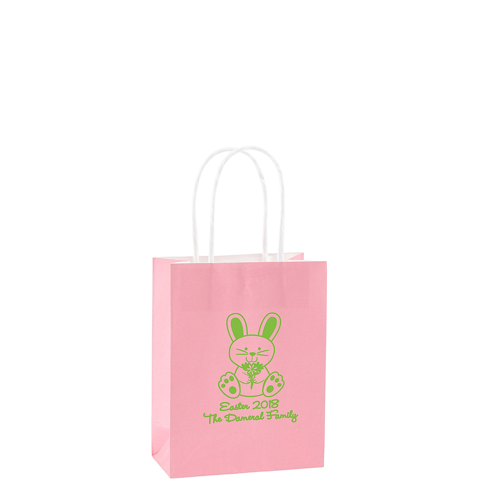 Personalized Small Easter Kraft Bags Image 1