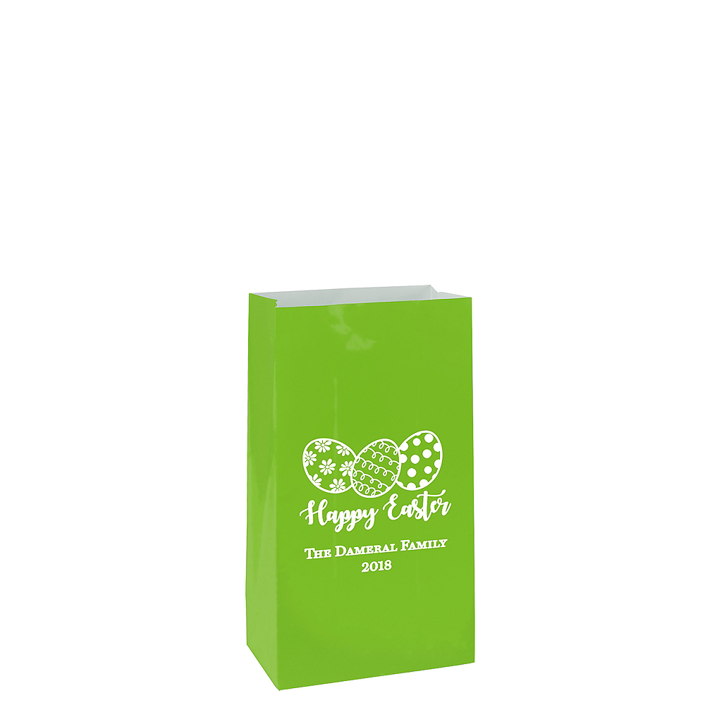 Personalized Mini Easter Paper Treat Bags Image #1