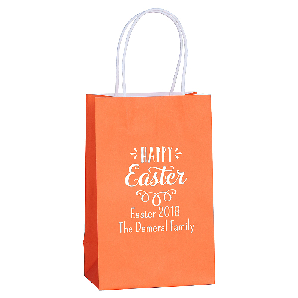 Personalized Medium Easter Kraft Bags Image #1