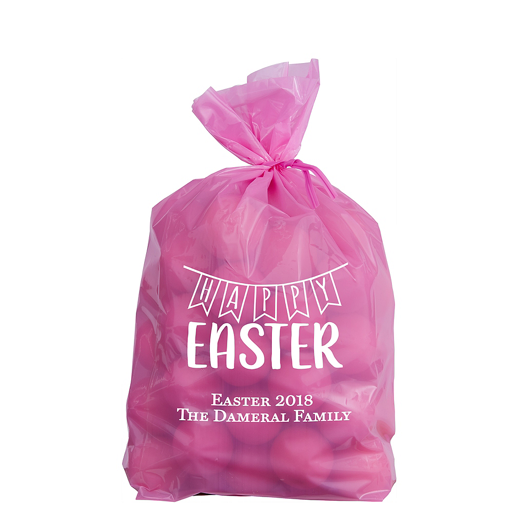 Personalized Small Easter Plastic Treat Bags Image #1