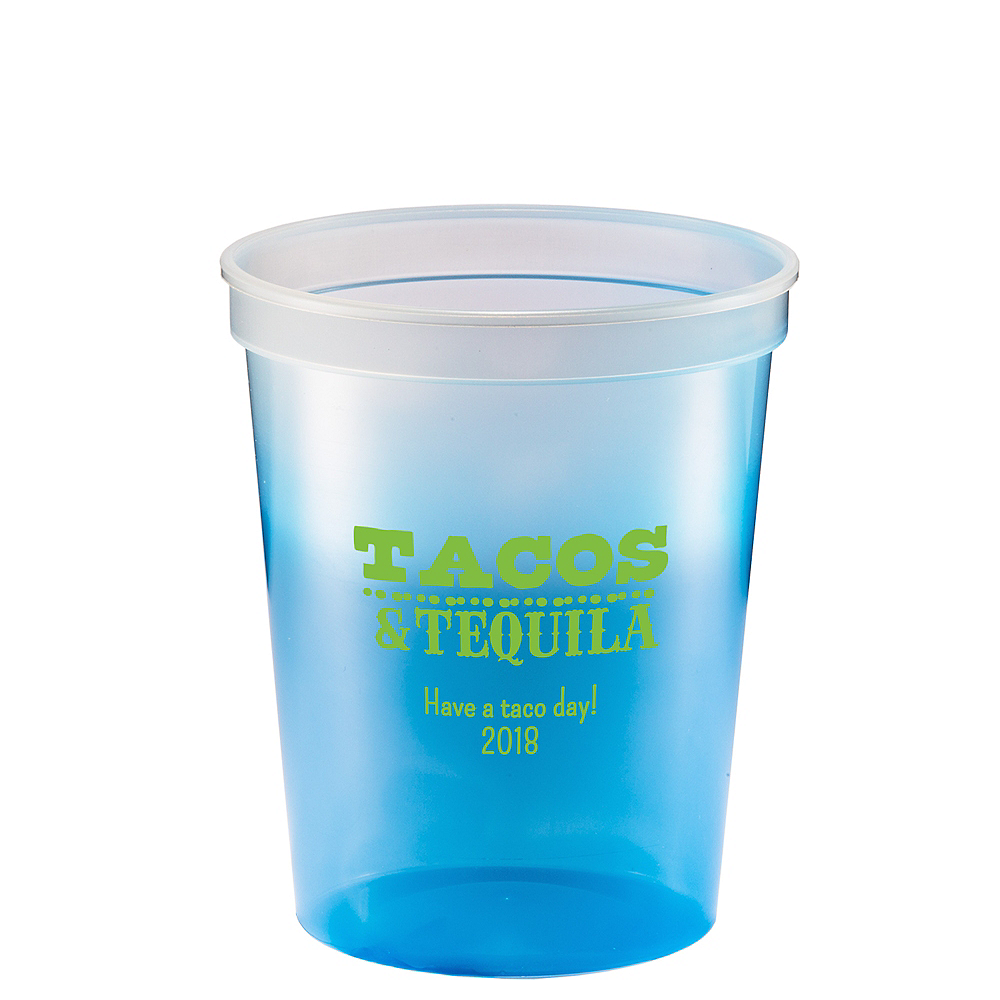 Personalized Cinco de Mayo Color-Changing Plastic Stadium Cups 16oz Image #1