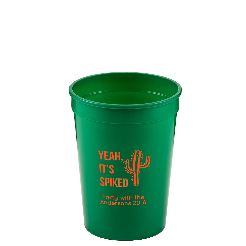 Personalized Cinco de Mayo Plastic Stadium Cups 12oz Image #1