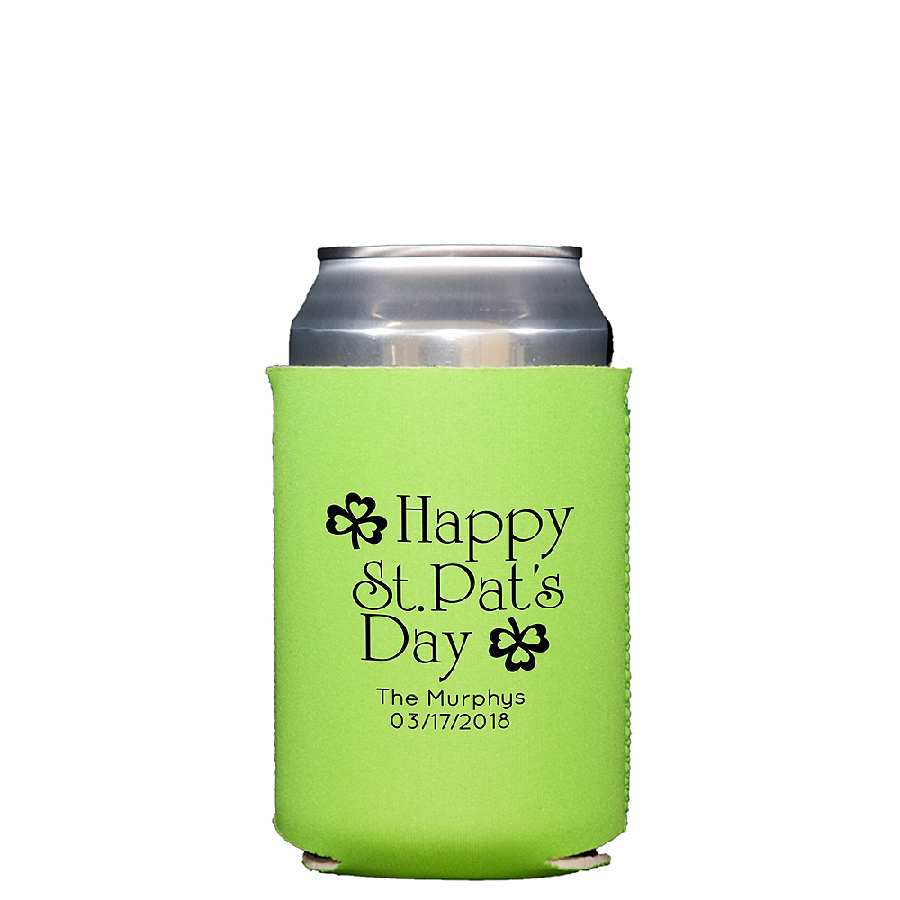 Personalized St. Patrick's Day Collapsible Can Coozies Image #1