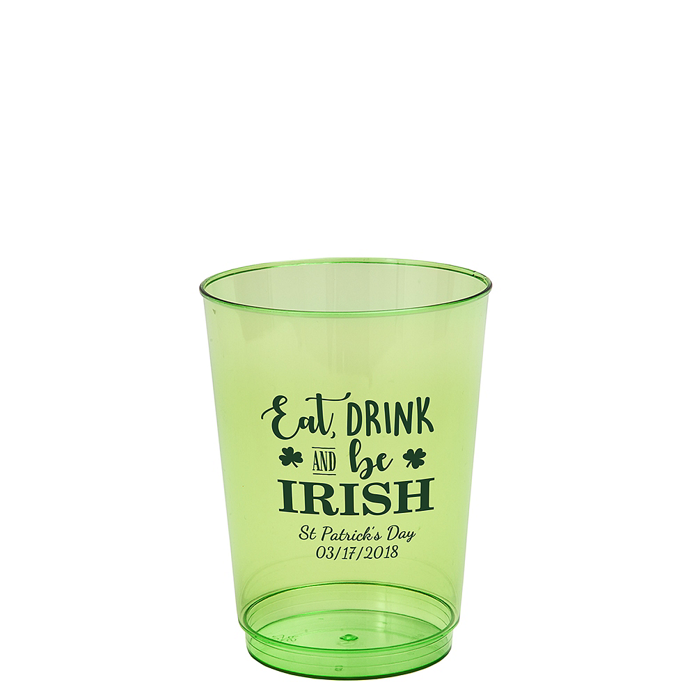 Personalized St. Patrick's Day Hard Plastic Cups 10oz Image #1