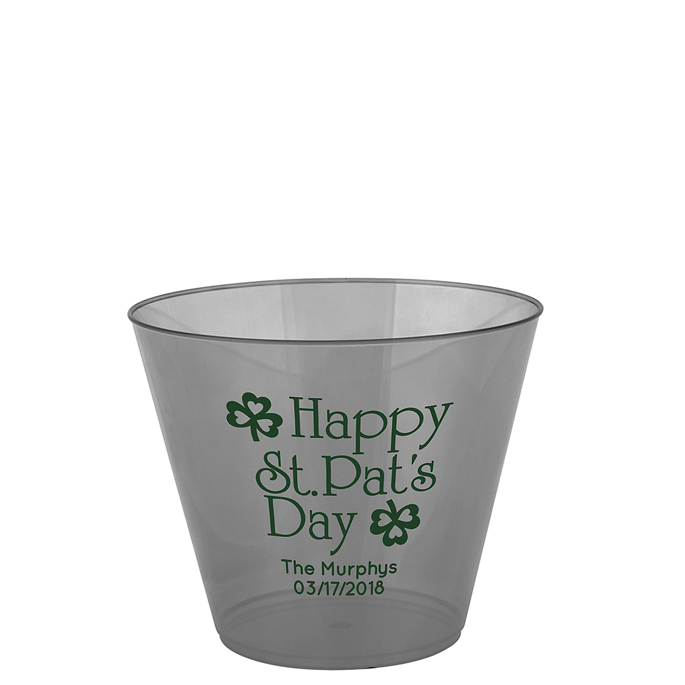 Personalized St. Patrick's Day Hard Plastic Cups 9oz Image #1