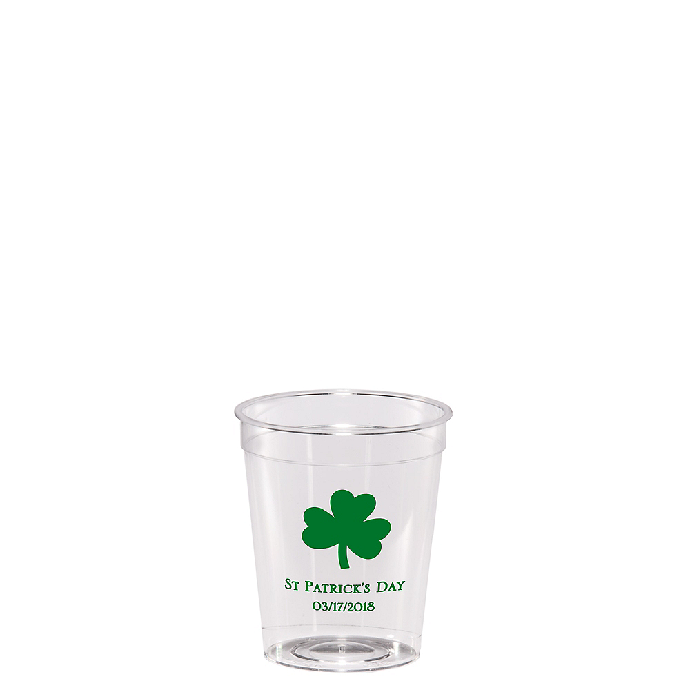Personalized St. Patrick's Day Hard Plastic Shot Glasses 2oz Image #1