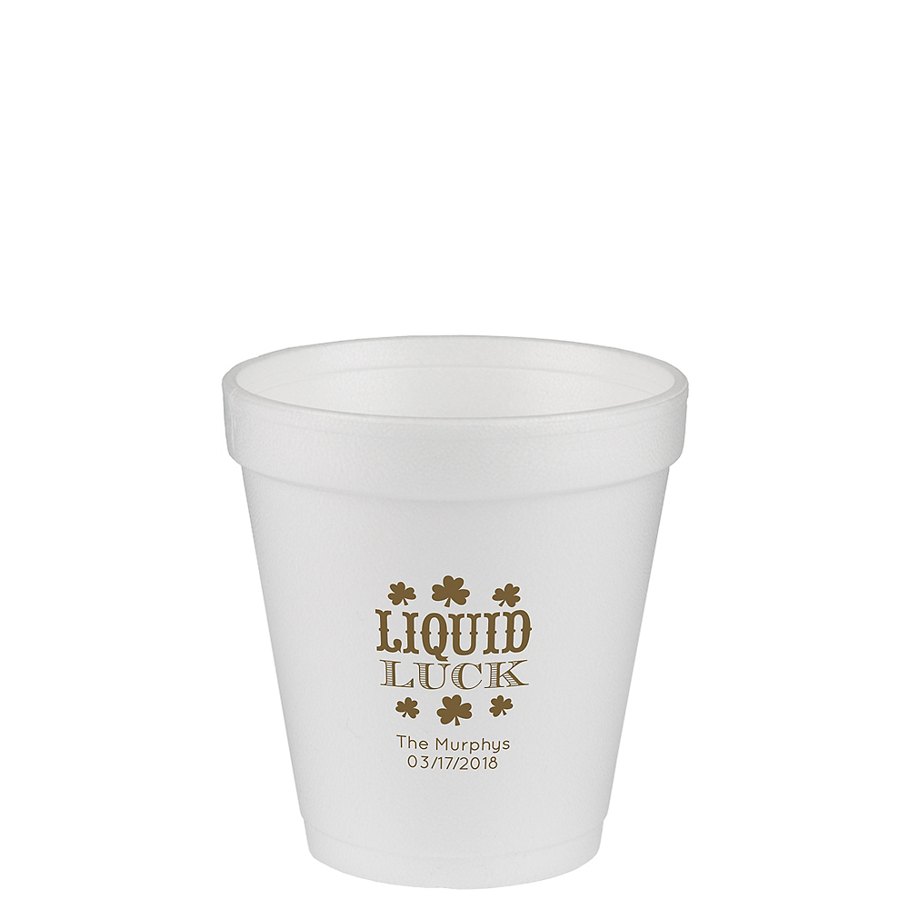 Personalized St. Patrick's Day Foam Cups 10oz Image #1