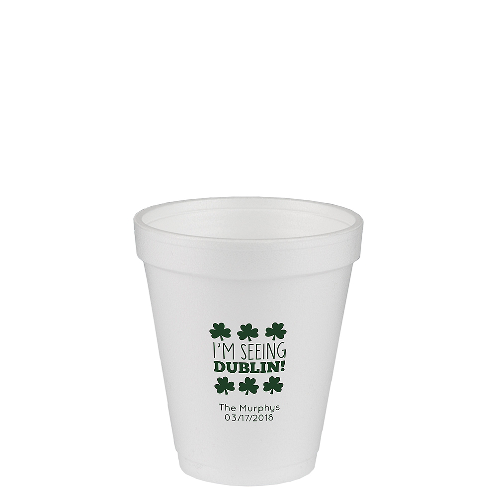 Personalized St. Patrick's Day Foam Cups 8oz Image #1