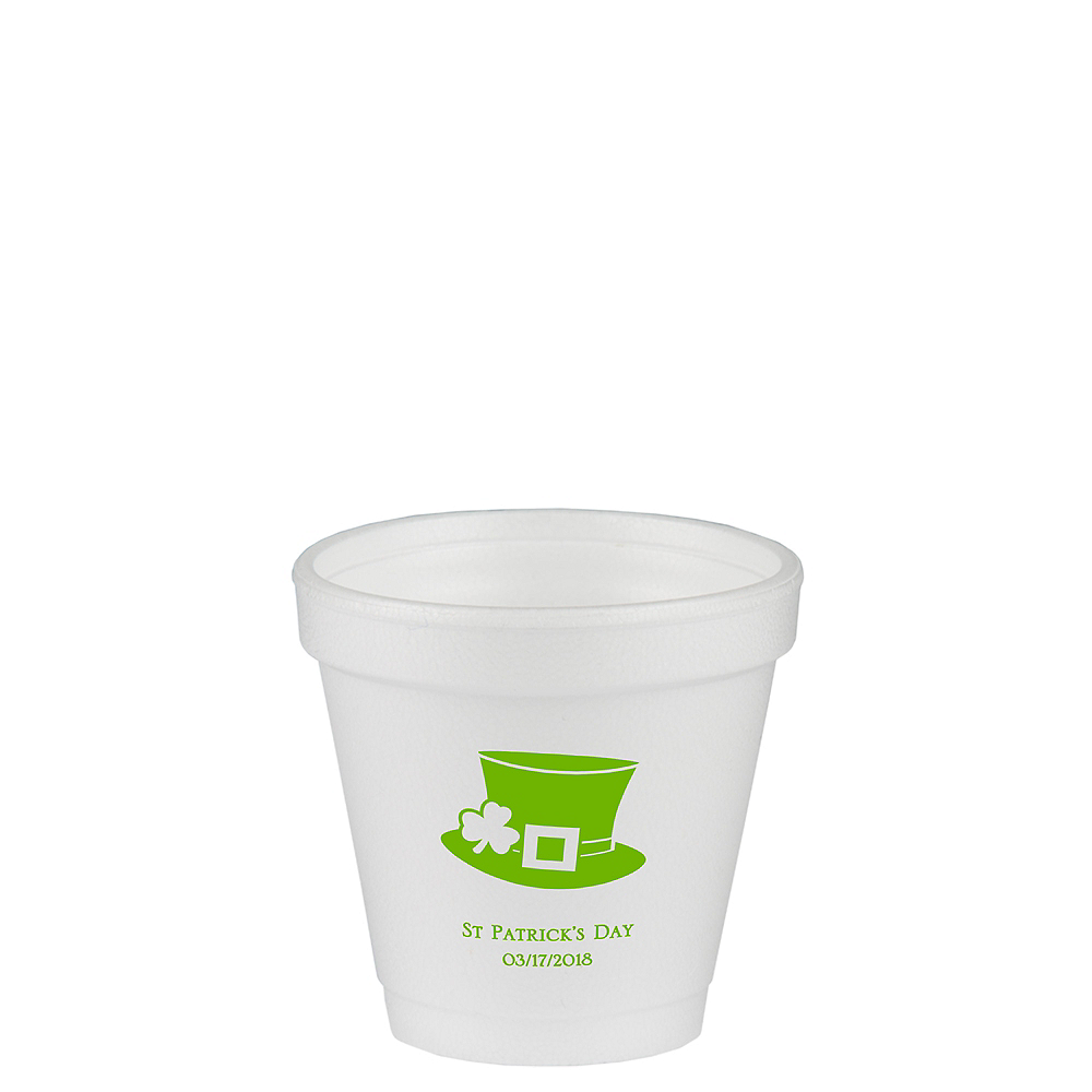 Personalized St. Patrick's Day Foam Cups 4oz Image #1