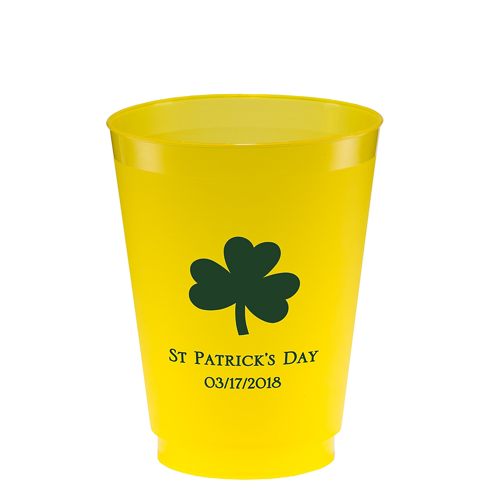 Personalized St. Patrick's Day Plastic Shatterproof Cups 16oz Image #1