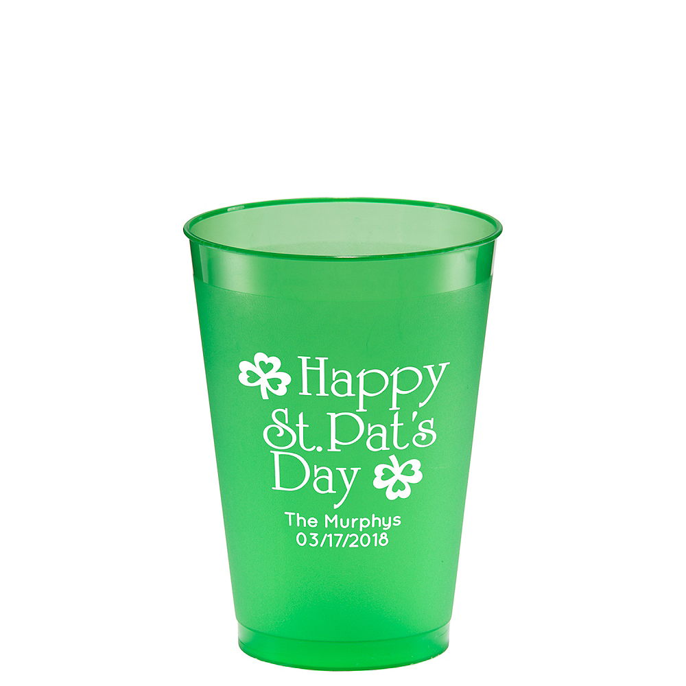 Personalized St. Patrick's Day Plastic Shatterproof Cups 12oz Image #1