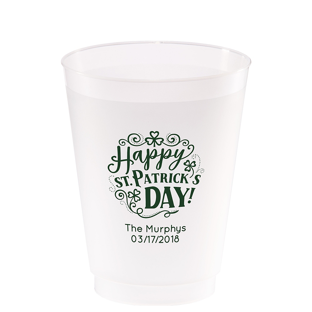 Personalized St. Patrick's Day Frosted Plastic Shatterproof Cups 20oz Image #1