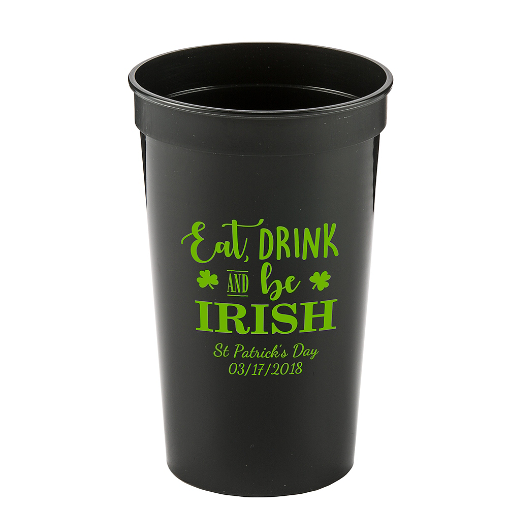 Personalized St. Patrick's Day Plastic Stadium Cups 22oz Image #1