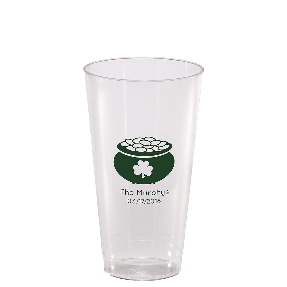Personalized St. Patrick's Day Hard Plastic Cups 16oz Image #1