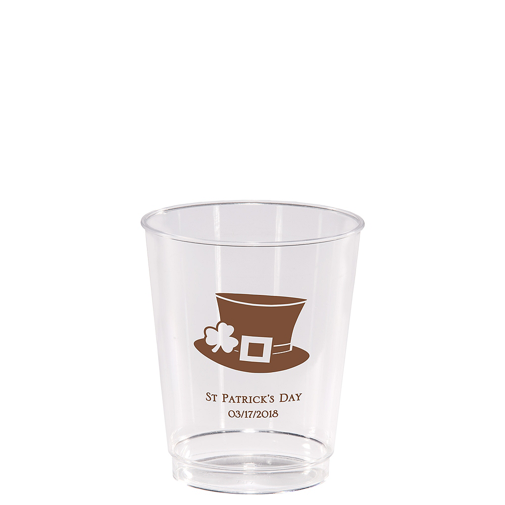 Personalized St. Patrick's Day Hard Plastic Cups 8oz Image #1