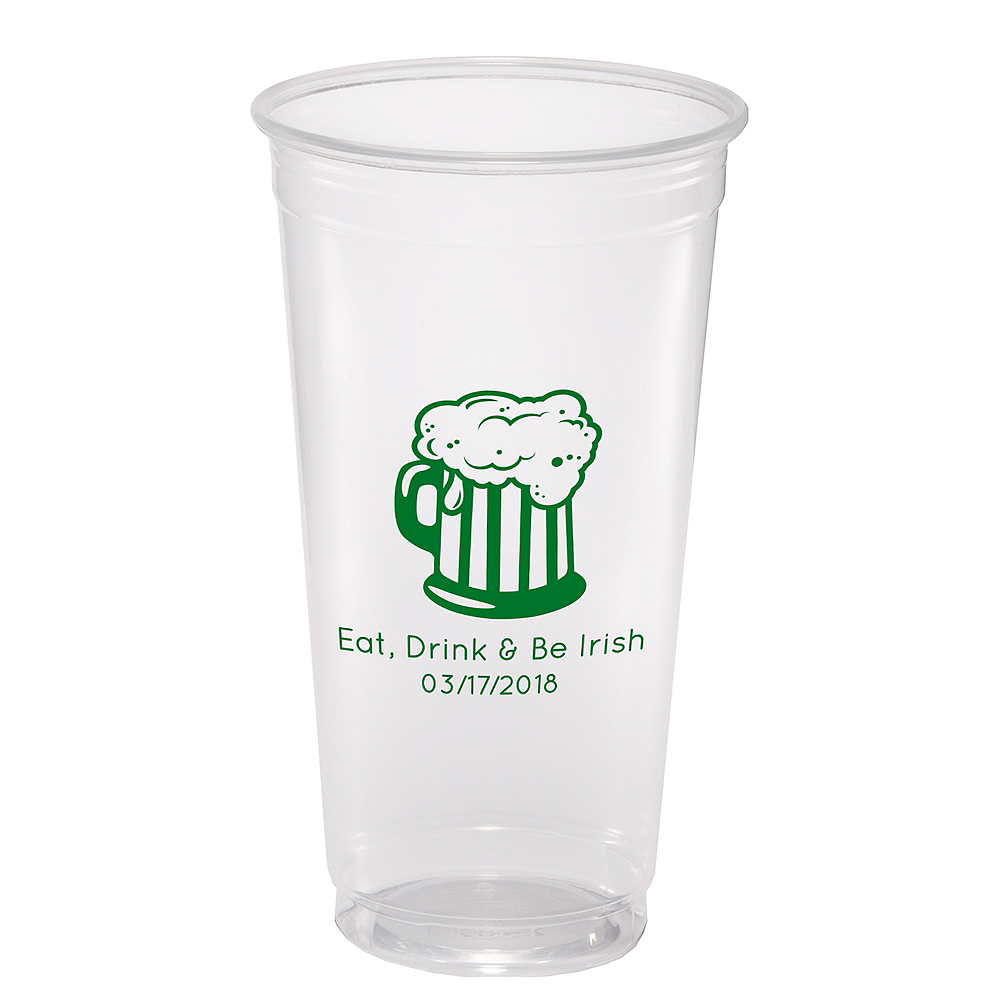Nav Item for Personalized St. Patrick's Day Plastic Party Cups 24oz Image #1