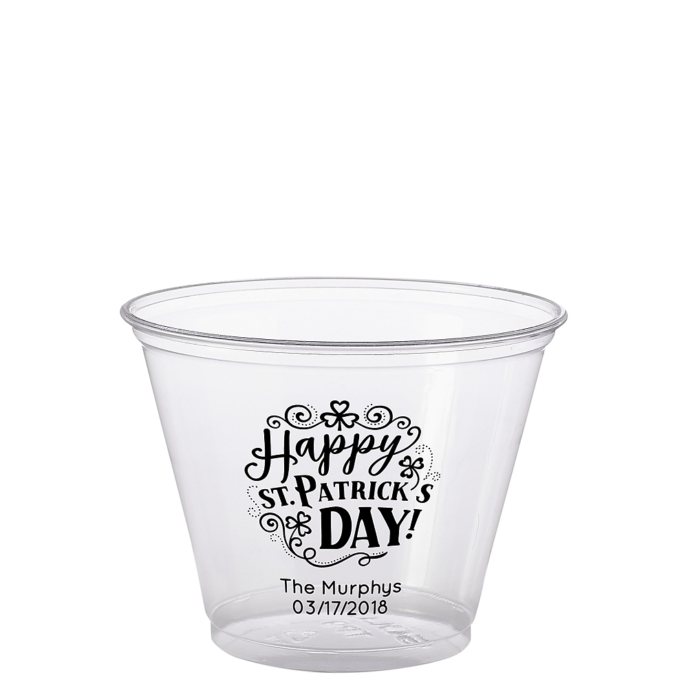 Personalized St. Patrick's Day Plastic Party Cups 9oz Image #1