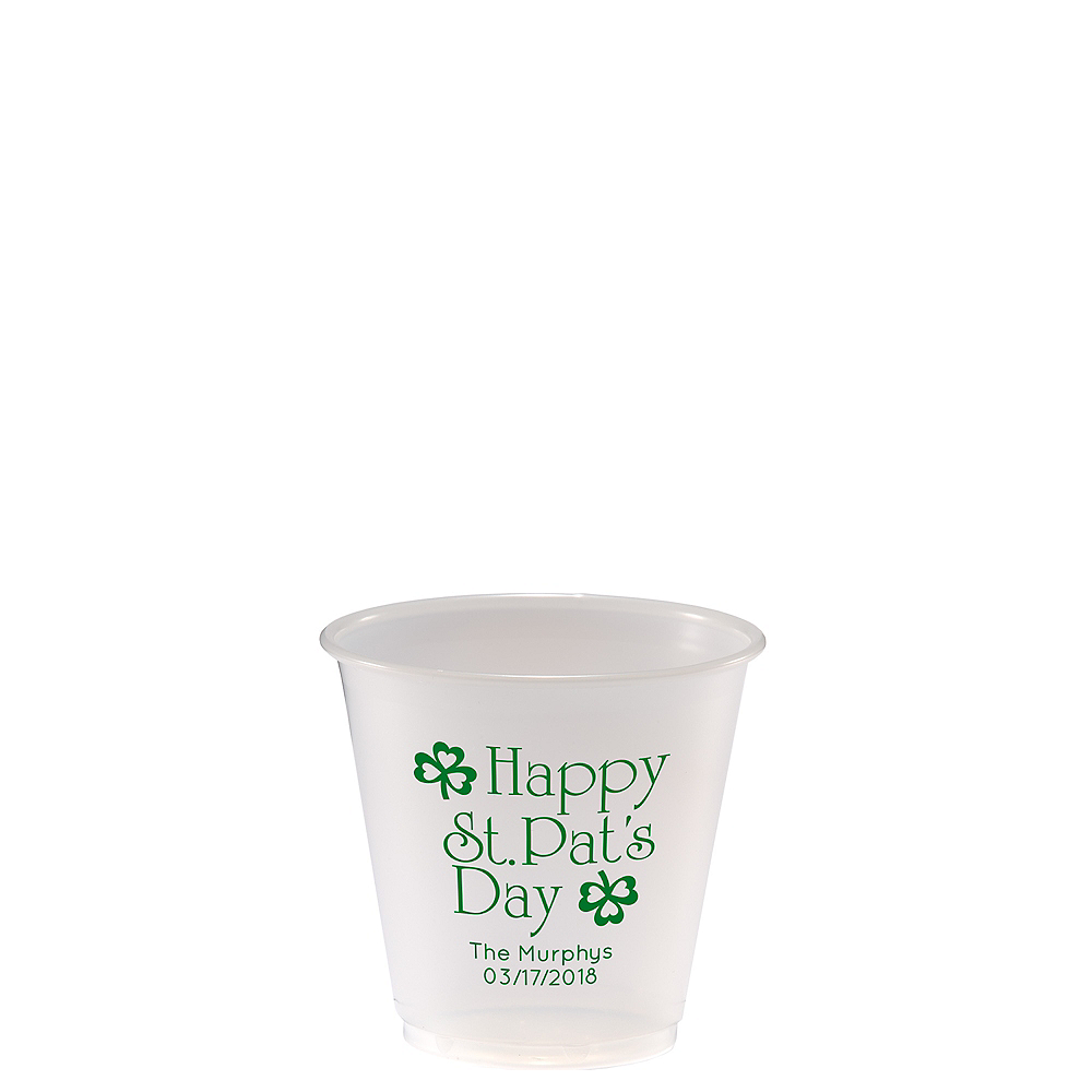 Personalized St. Patrick's Day Plastic Party Cups 3.5oz Image #1