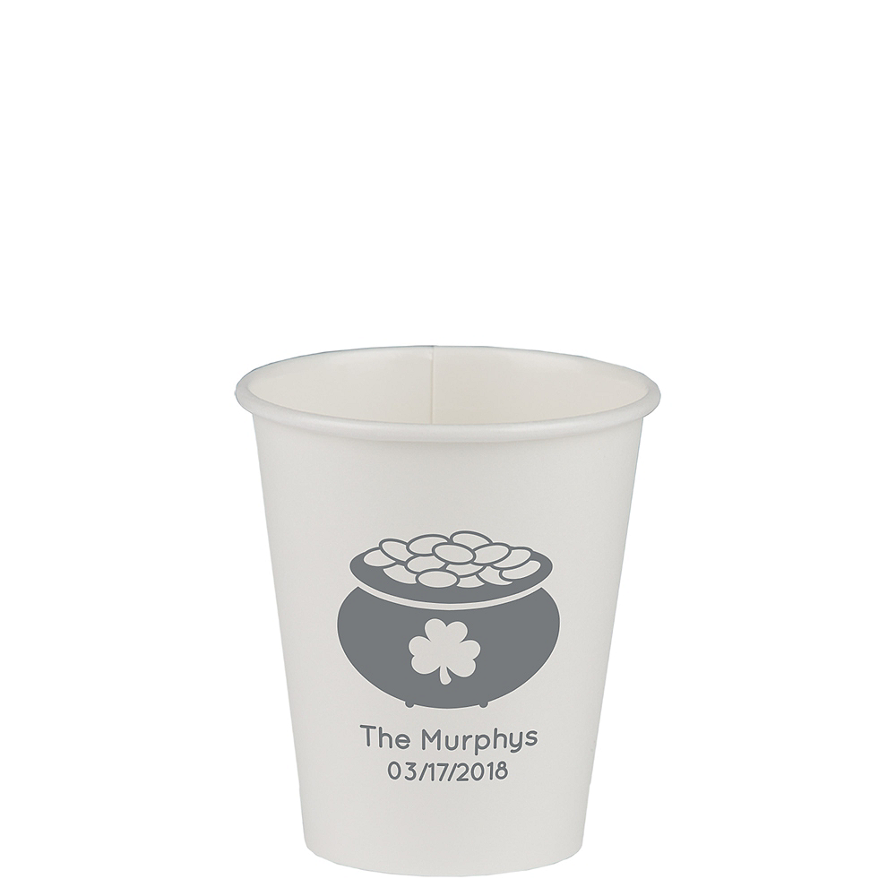 Personalized St. Patrick's Day Paper Cups 8oz Image #1