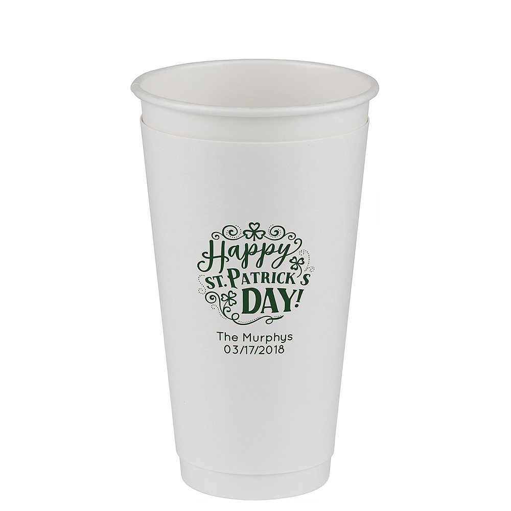 Personalized St. Patrick's Day Insulated Paper Cups 20oz Image #1