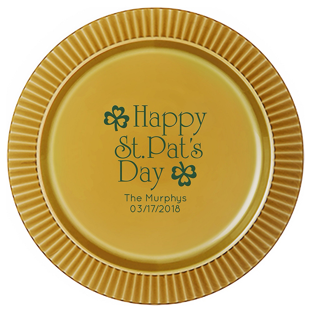 Personalized St. Patrick's Day Plastic Dinner Plates Image #1