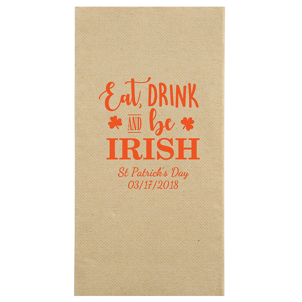 Personalized St. Patrick's Day Eco-Friendly Guest Towels Image #1