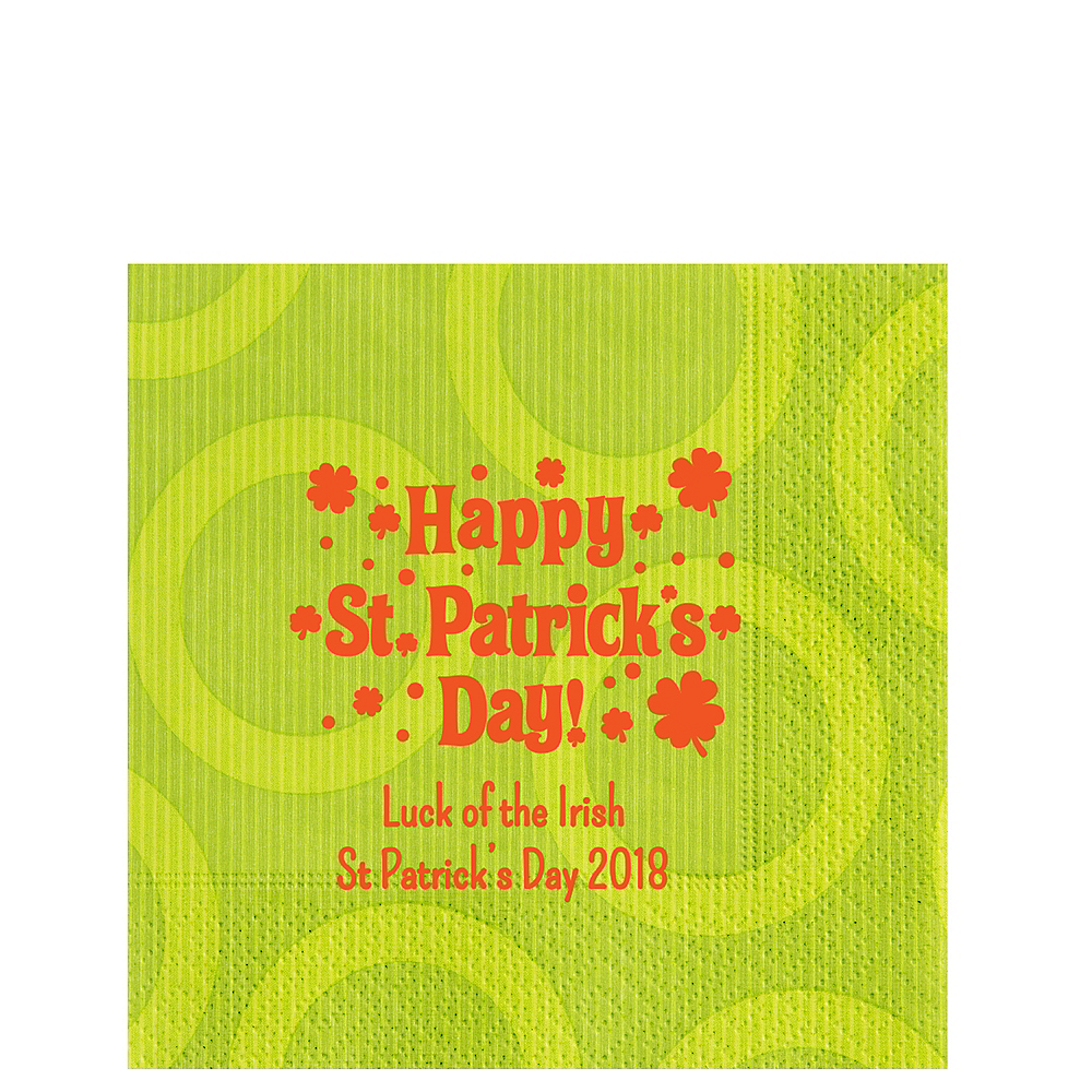 Personalized St. Patrick's Day Circles Lunch Napkins Image #1