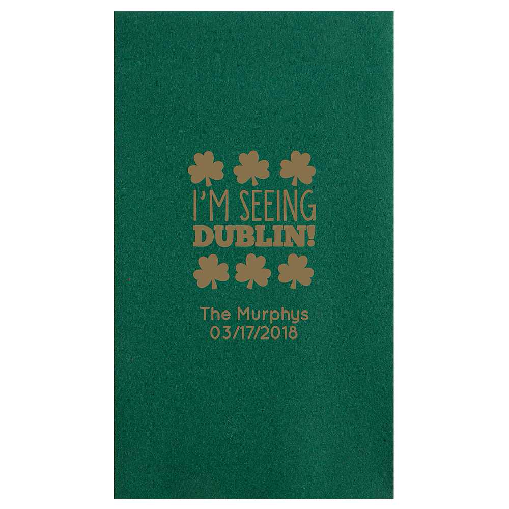 Personalized St. Patrick's Day Premium Guest Towels Image #1