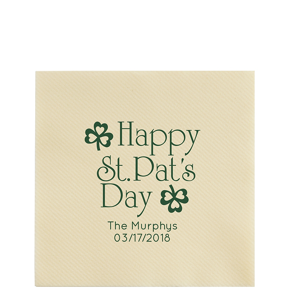 Personalized St. Patrick's Day Premium Lunch Napkins Image #1