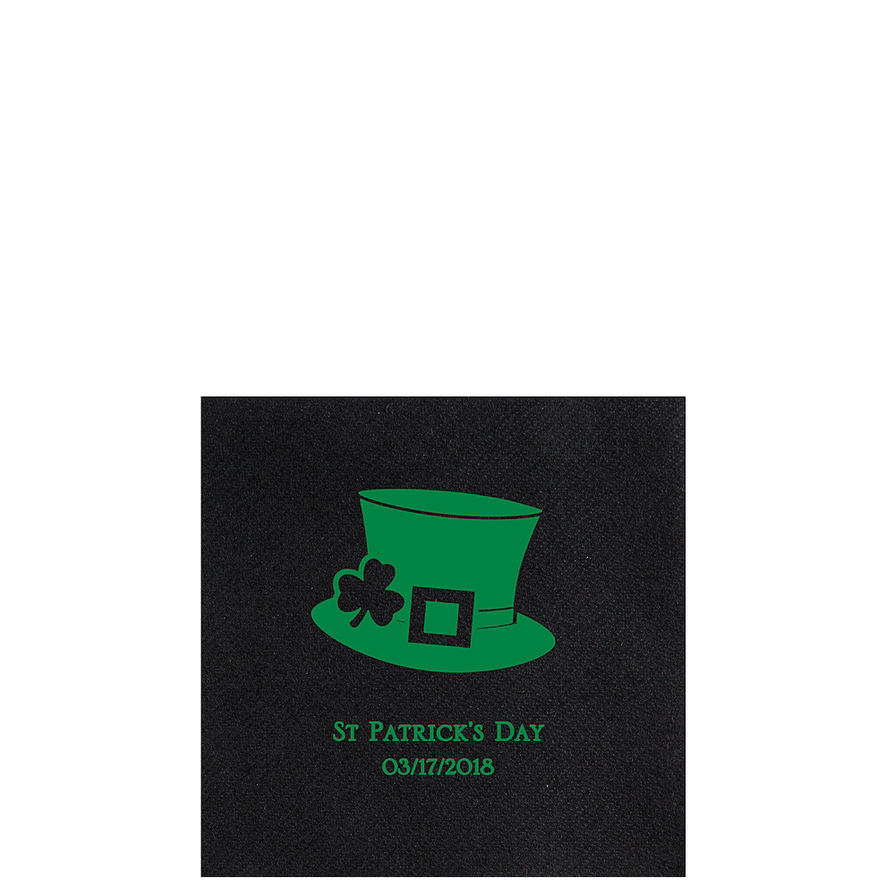Nav Item for Personalized St. Patrick's Day Premium Beverage Napkins Image #1