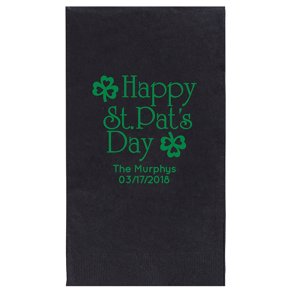 Personalized St. Patrick's Day Guest Towels Image #1