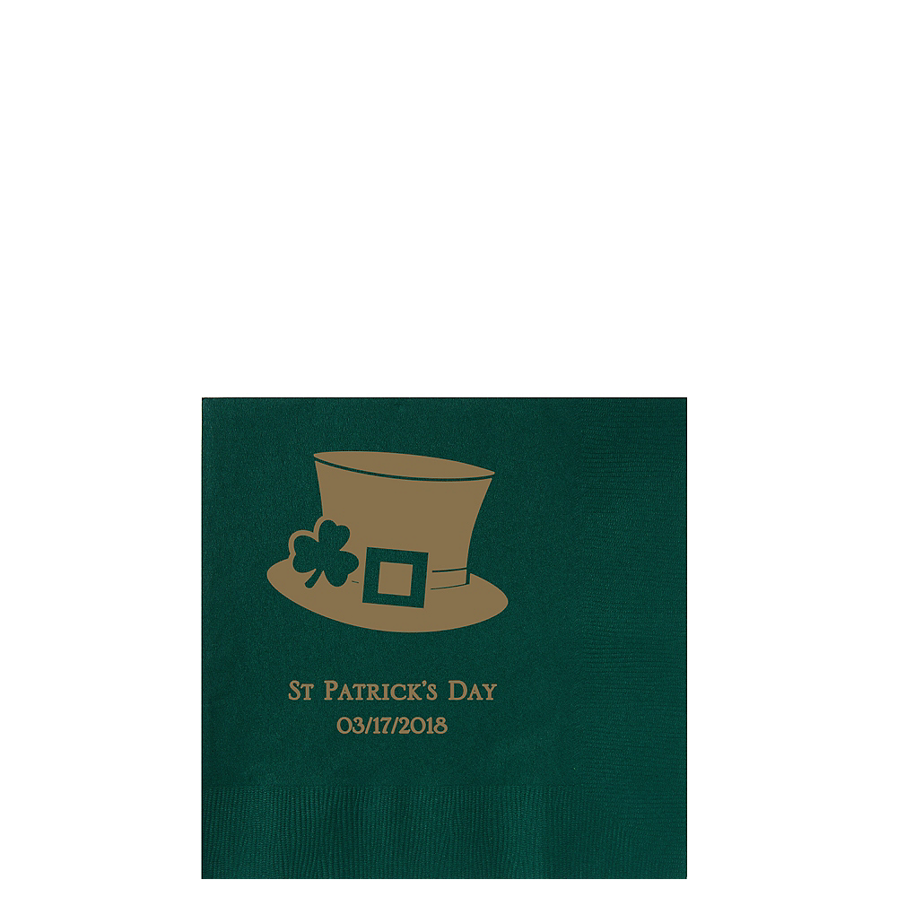 Personalized St. Patrick's Day Beverage Napkins Image #1